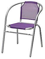 Садовый стул металлический (фиолетовый ) 52х60 см, высота 72 см, фото 1