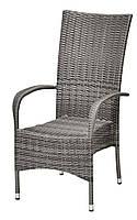 Садовое кресло серок с высокой спинкой 57х69 см, выс. 108 см