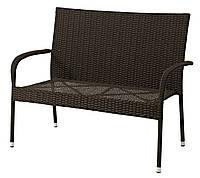 Садовый диван скамья плетенное из искусственного ротанга 120х64 см, выс. 94 см