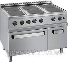 Електрична плитка плита Apach APRE-117FE з духовкою, 6 високих конфорок, 1100х700х850 мм