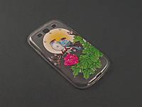 Чехол TPU ультратонкий для Samsung i9300 S3 цветы