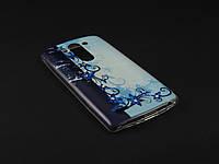 Чехол Diamond TPU для LG Optimus G3s D724 синий принт