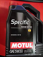 Масло автомобильное Motul SPECIFIC 504 00 - 507 00 5W-30