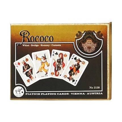 Комплект - игральные карты Piatnik Roccoco 2 колоды по 55 листов , фото 2