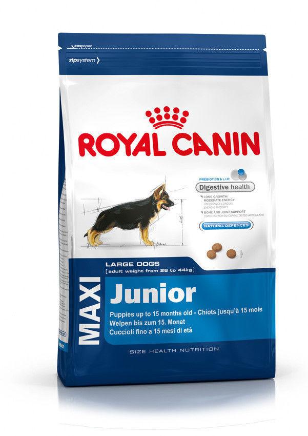 """Royal Canin Maxi Junior  15кг -корм для щенков собак крупных размеров  - Зоомагазин """"Шиншилка"""" - Дискаунтер зоотоваров.Корма для кошек и собак.Ветаптека.Аквариумы.Переноски. в Харькове"""