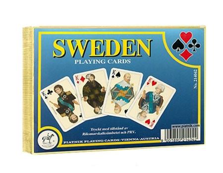 Комплект - игральные карты Piatnik Sweden 2 колоды по 55 листов