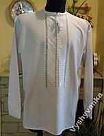 """Чоловіча сорочка-вишиванка, на білому домотканому полотні """" Білим по білому""""  52-54 розміру."""