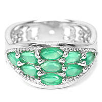 Хризопраз, серебро 925, кольцо