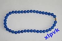 Ожерелье BLUE SAPPHIRE-Синий Жадеит -10мм.ИНДИЯ
