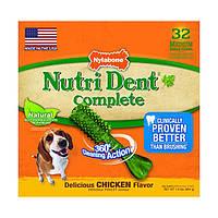 Nylabone Nutri Dent Chicken Wolf НИЛАБОН жевательное лакомство для чистки зубов для собак до 16 кг