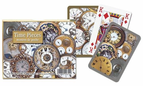 Комплект - игральные карты Piatnik Time Pieces, Bridge 2 колоды по 55 листов