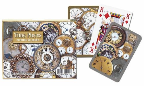 Комплект - игральные карты Piatnik Time Pieces, Bridge 2 колоды по 55 листов, фото 2