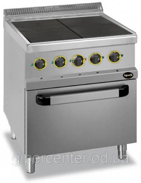 Электрическая напольная плита Apach APRE-77FE с духовкой, 4 высокие конфорки, 700х700х850 мм