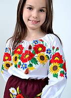 Блуза с  подсолнухами ,маками,васильками
