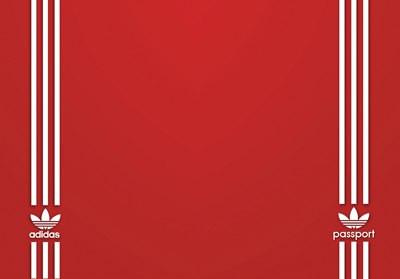 Обложка обкладинка на паспорт adidas