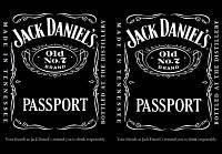 Обложка обкладинка на паспорт Jack Daniels