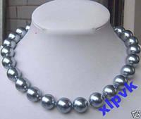 Ожерелье Серебристый Жемчуг 10 мм-18k GP-Австралия