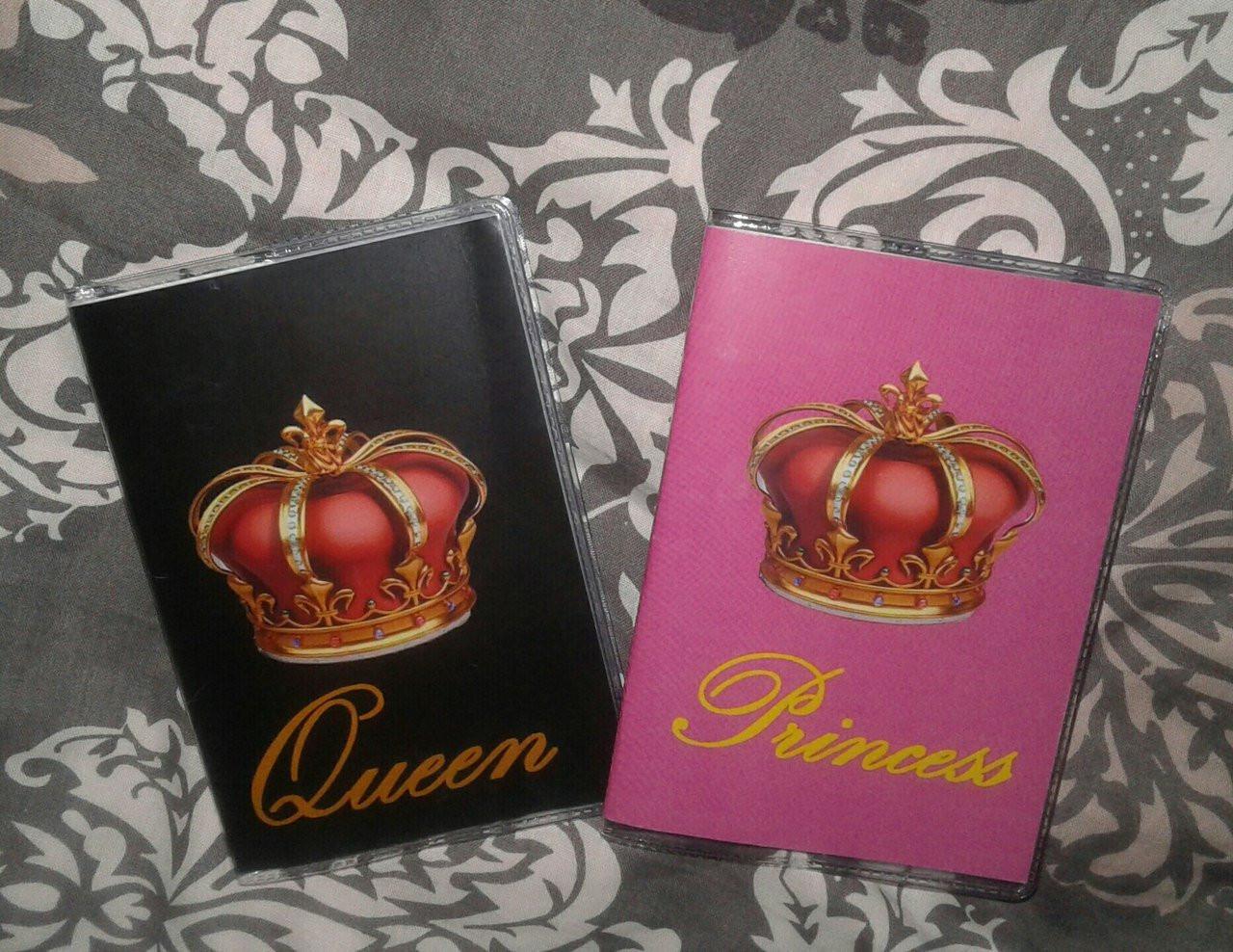 Обложка обкладинка на паспорт Queen & Princess 2 шт