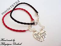 Браслет Best Friends друзья сердце пара половинки браслеты для двоих друзей