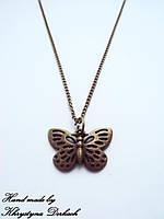 Подвеска кулон Бабочка метелик с цепочкой