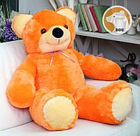 Большой плюшевый медведь Фокси, 100 см, оранжевый