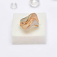 Золотое кольцо с цирконием 97631