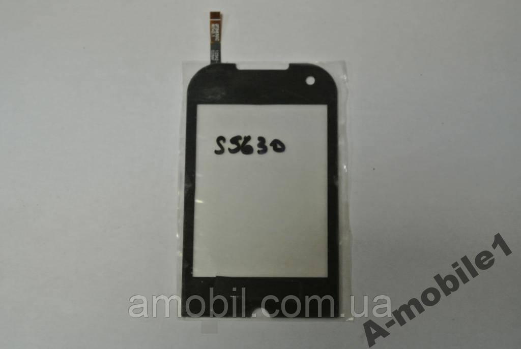 Сенсор Samsung S5630 Black с самоклейкой качеств