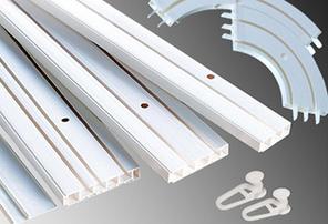 Комплектующие для потолочного усиленного пластикового карниза СМУ