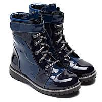Ботинки FS Collection лакированные для девочки, демисезонные, размер 28- 37