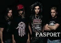 Обложка обкладинка на паспорт Tokio Hotel