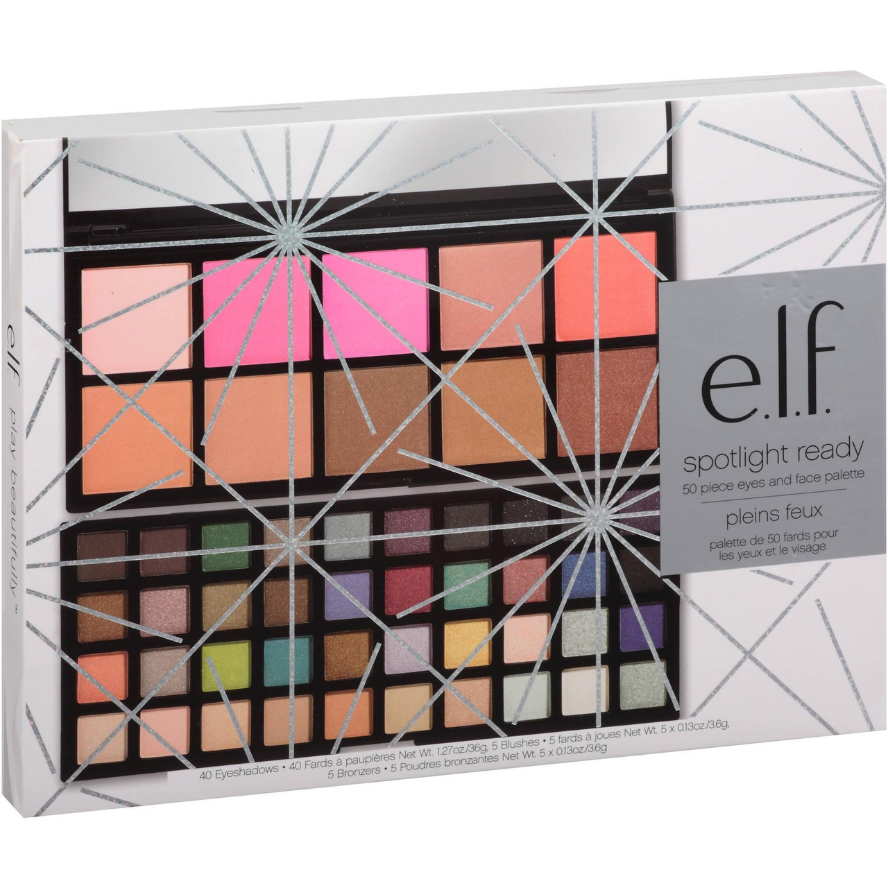 Палитра теней, бронзеров и румян e.l.f. Eyeshadow Set 50 цветов