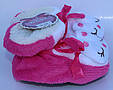 Махровые домашние тапочки-сапожки для девочки , фото 3