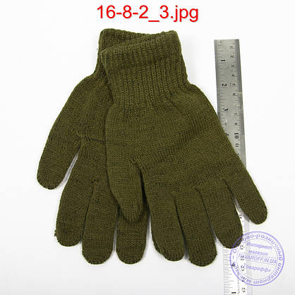 Оптом мужские перчатки - №16-8-2, фото 2