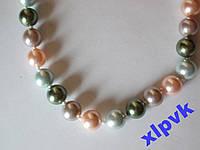Ожерелье Жемчуг  4 цвета--ААА-8мм-18k GP-АВСТРАЛИЯ