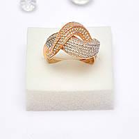 Золотое кольцо с цирконием 101732