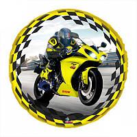 Фольгированный шар с изображением мотоциклиста