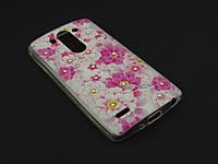 Чехол Diamond TPU для LG Optimus G3s D724 розовый принт