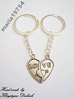 Брелок брелоки пара любовь для двоих love сердце