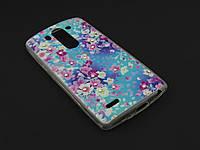Чехол Diamond TPU для LG Optimus G3s D724 цветочный принт