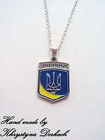 Подвеска кулон шеврон герб трезубец тризуб Україна