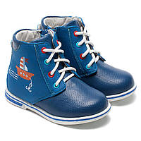 Ботинки B&G для мальчика, синие на шнуровке, размер 22-26, фото 1
