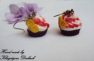 Серьги сережки пироженое тортик