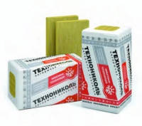 Теплоизоляция базальтовая минеральная вата ТЕХНОВЕНТ СТАНДАРТ Технониколь 100 мм/ плотность 80 кг/м3