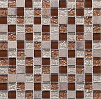 Мозаика натуральный мрамор и стекло для кухни Vivacer DAF9