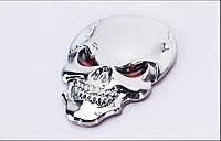 3D эмблема  - череп хром, фото 1