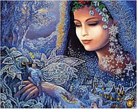 Схема для вышивки бисером Снежная королева