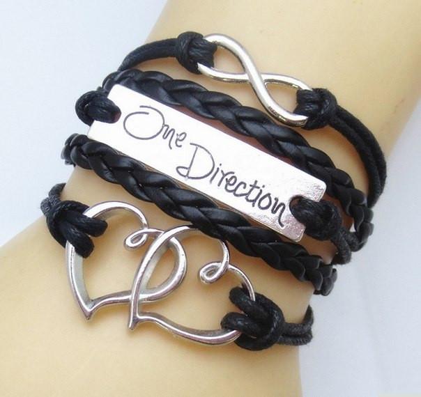 Браслет One Direction INFINITY НЕСКІНЧЕННІСТЬ серце різні кольори
