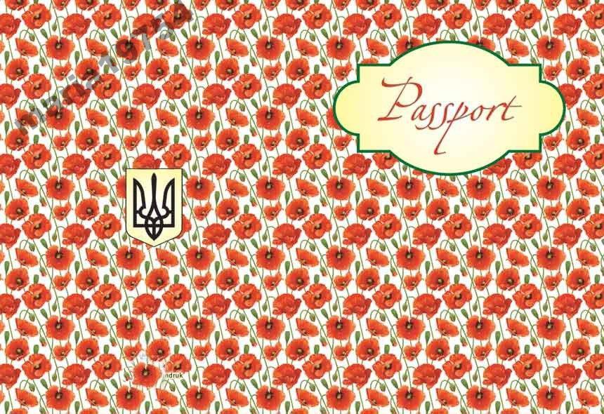 Обкладинка обкладинка на паспорт Україна маки