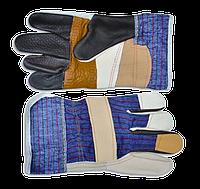 Перчатки рабочие кожаные утолщенные TECHNICS
