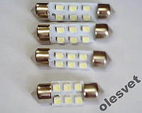 Светодиодная лампа фестон 6SMD1206 1шт. белый свет